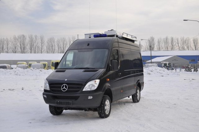 Vehicle for pyrotechnic services